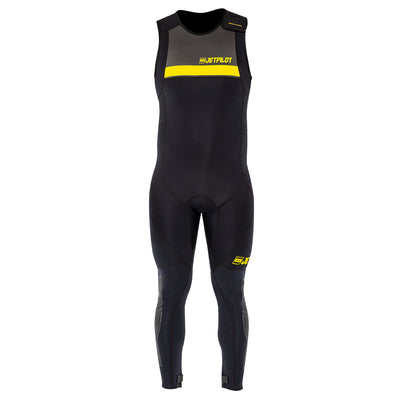 Front view of the Jetpilot L.R.E. John Wetsuit black colorway.