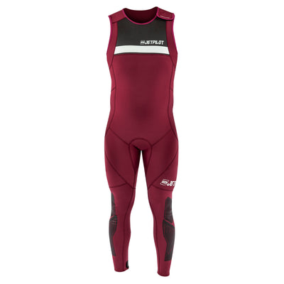 Front view of the Jetpilot L.R.E. John Wetsuit Maroon colorway.