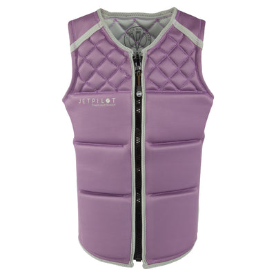 Front view of the Jetpilot Wave Farer Comp Vest Mauve colorway.