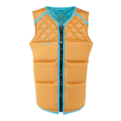 Front view of the Jetpilot Wave Farer Comp Vest Sandy Orange colorway.