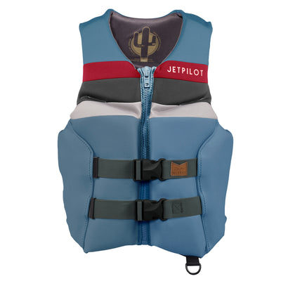Front view of the Jetpilot's Shaun Murray Signature Vest Slate Blue colorway photo