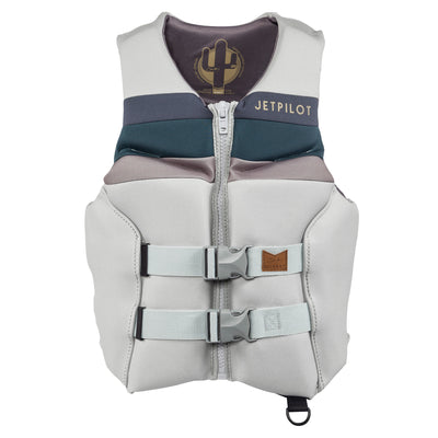 Front view of the Jetpilot's Shaun Murray Signature Vest Silver colorway photo