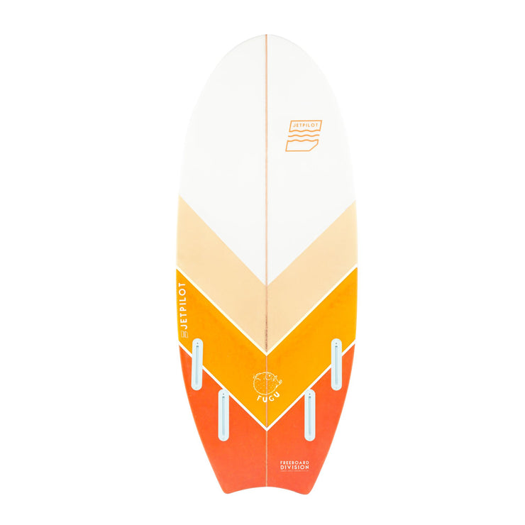 "Bottom of the Jetpilot Fugu 4'6"" wake surfboard"