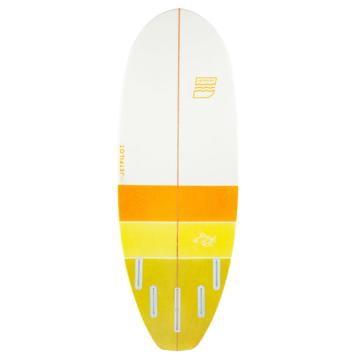 "Bottom of the Jetpilot Perch 5'2"" wake surfboard"