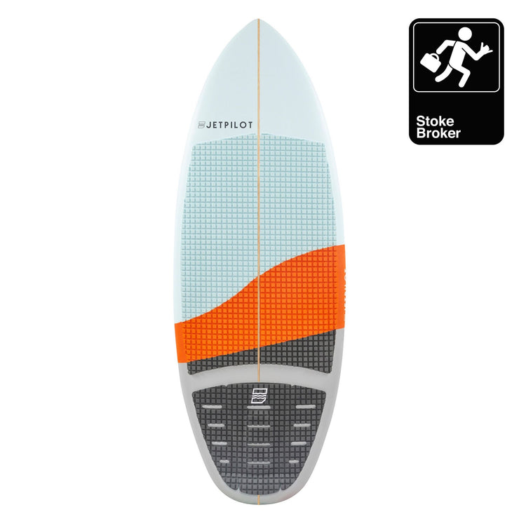 "Stoke Broker 4'7"" top deck with traction pad"