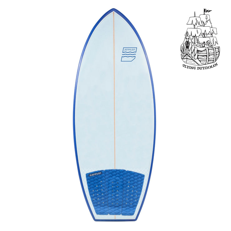 Jetpilot's Flying Dutchman wake surfboard top deck without traction pad