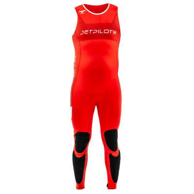 Front view of the Jetpilot F-86 Sabre John wetsuit Red colorway.