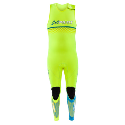 Front view of the Limited Edition Vintage John Wetsuit Neon Green colorway.