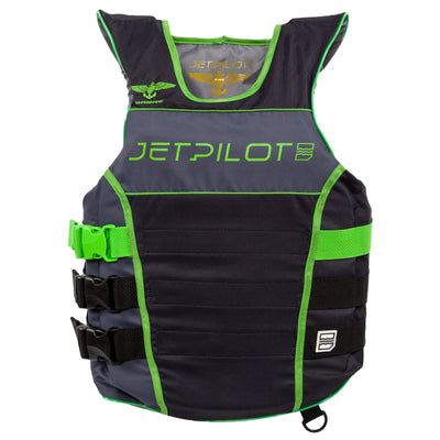 Front view of the Jetpilot F-86 Sabre Nylon Black Neon Green colorway.