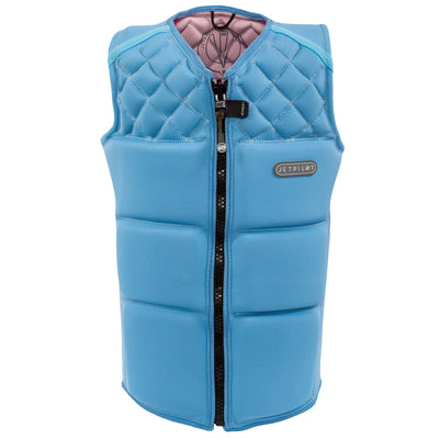 Front view of the Wave Farer comp vest in the Wave Blue colorway.