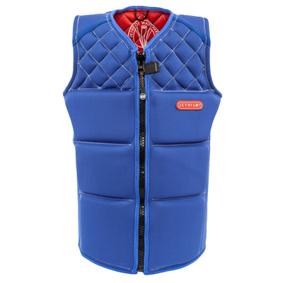 Front view of the Wave Farer comp vest in the Steel Blue colorway.