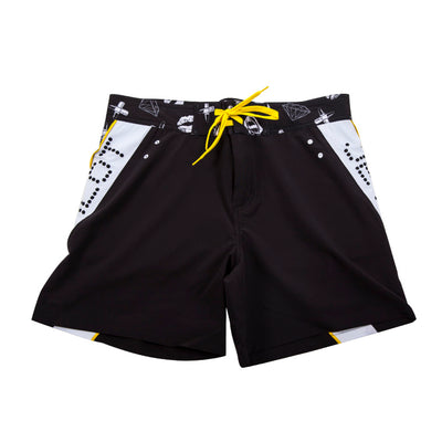 Front view of the Couture Rideshort black colorway.