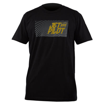 Front view of the Matrix Pro Tee with large logo. Black colorway.