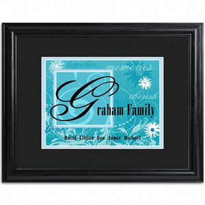 Family Name Frame  - BLUE