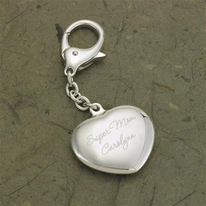 Heart Silver Plated Key Chain