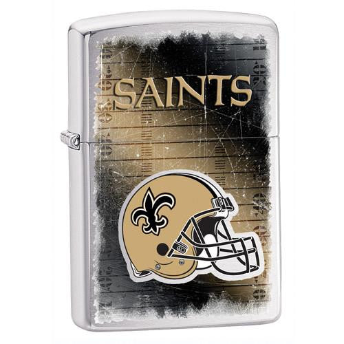 NFL Brushed Chrome Zippo Lighter - SAINTS