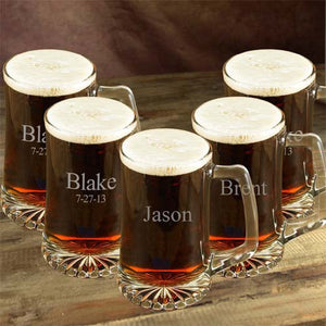 Personalized Beer Mug Set of Five