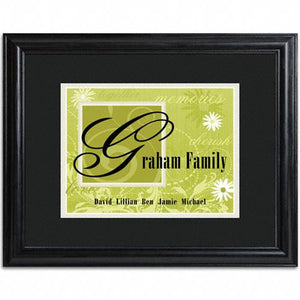 Family Name Frame  - GREEN