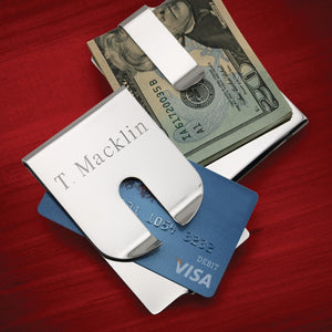 Personalized Harrison II - Money Clip Card Holder