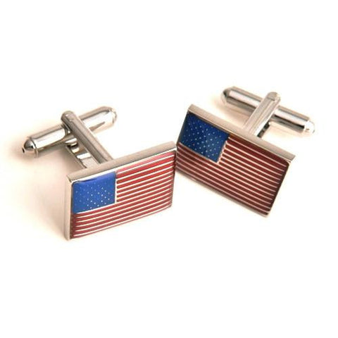 Dashing Cuff Links with Personalized Case  - FLAG