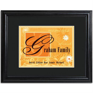 Family Name Frame  - ORANGE