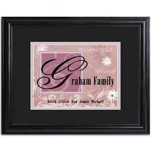 Family Name Frame  - PURPLE