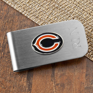 Personalized NFL Money Clip and Bottle Opener