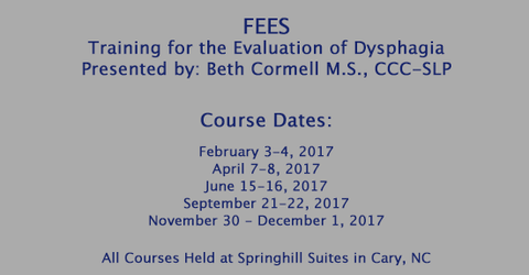 FEES® – Training for the Evaluation of Dysphagia | Beth Cormell