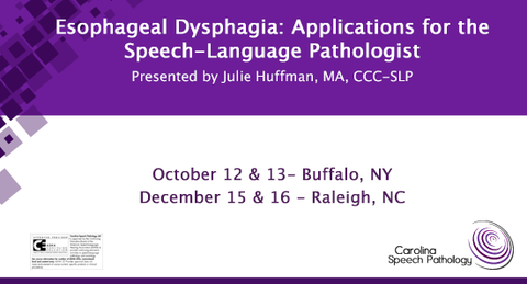 Esophageal Dysphagia: Applications for the Speech-Language Pathologist (2218)