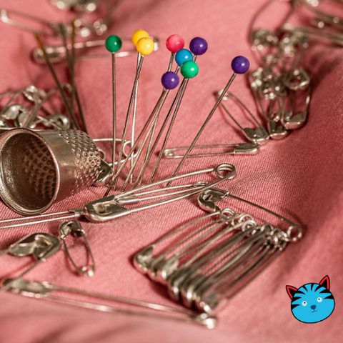 bunch of safety pins