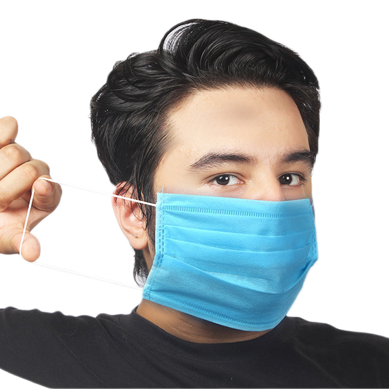 3 Ply Disposable Masks - 100-Pack