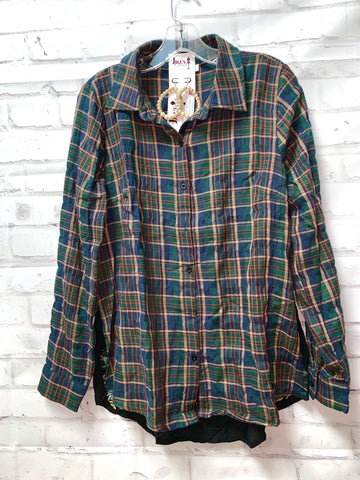 Embroidered Flannel Button Up