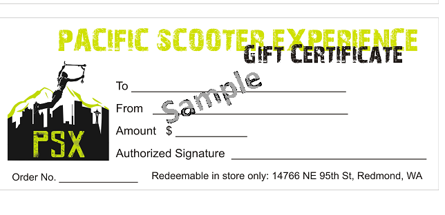 scooter park gift certificate