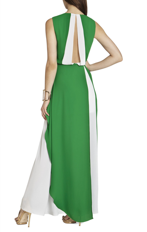 BCBG Deep-V Gown