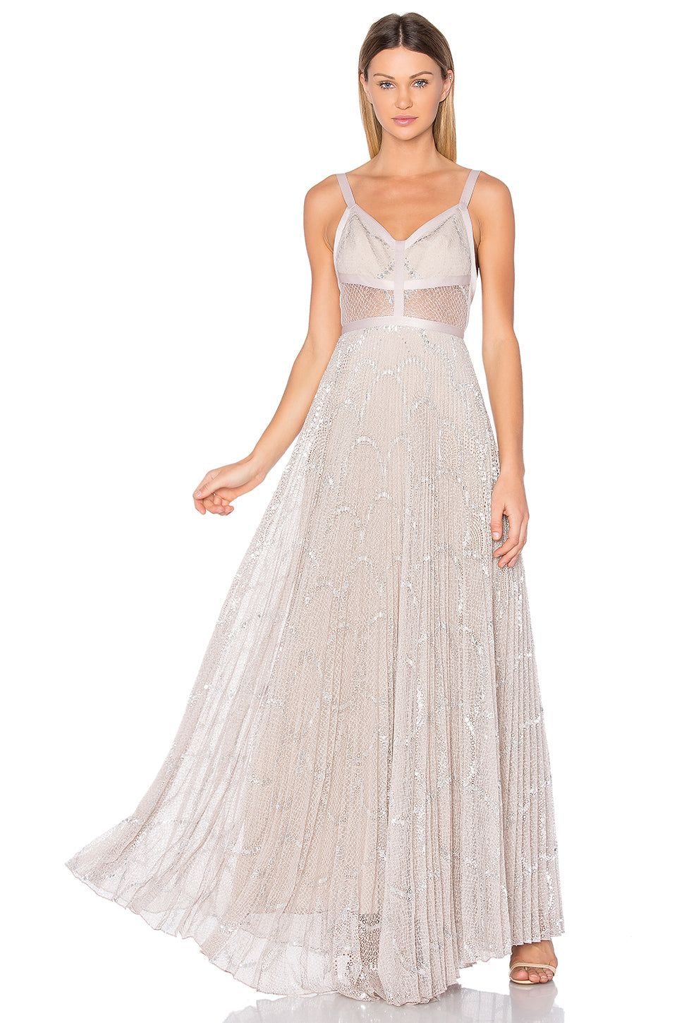 alexis silver blush gown – 10 wooster