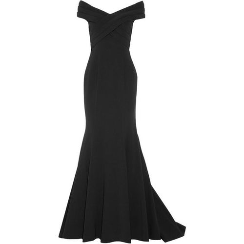 Mikael Aghal Off-Shoulder Gown