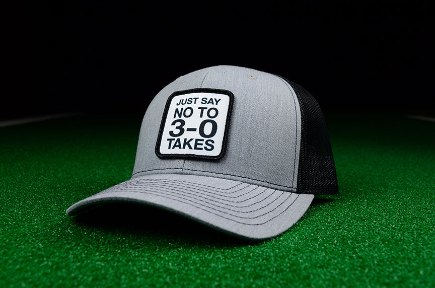 Just Say No To 3-0 Takes Snapback Trucker Cap - Chad Longworth Velo Shop