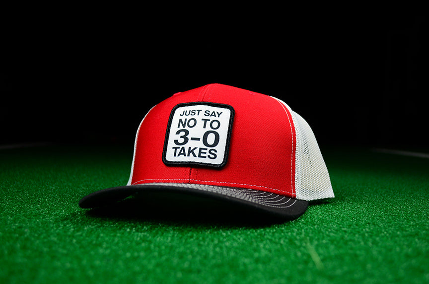 Just Say No To 3-0 Takes Snapback Trucker Cap - Dead Red Edition - Chad Longworth Velo Shop