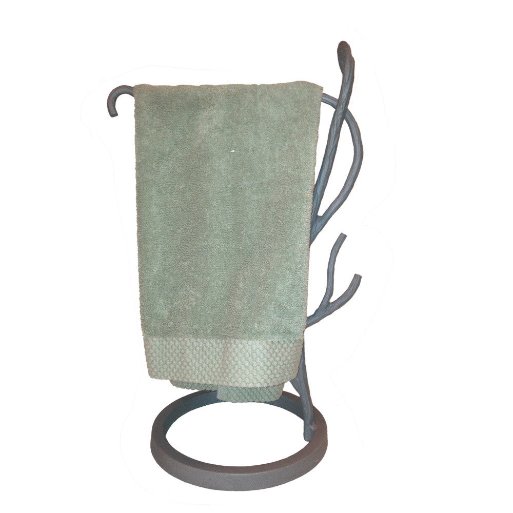 Willow Tree Branch Countertop Towel Stand Left