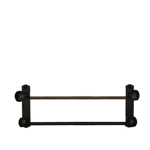 Cobre Railroad Spike Wall  Mount Towel Bar With Shelf