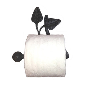 Calico Wrought Iron Leaf Toilet Paper Holder Petite Left
