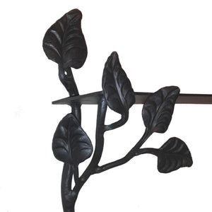Calico Wrought Iron Leaf Shelf, Wall Mount