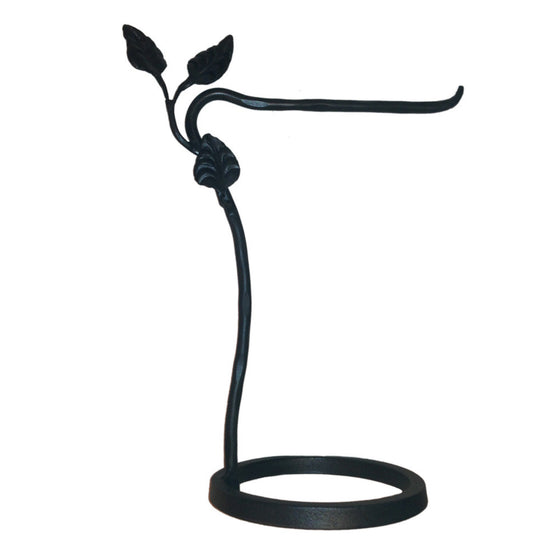 Calico Wrought Iron Leaf Countertop Towel Stand Right