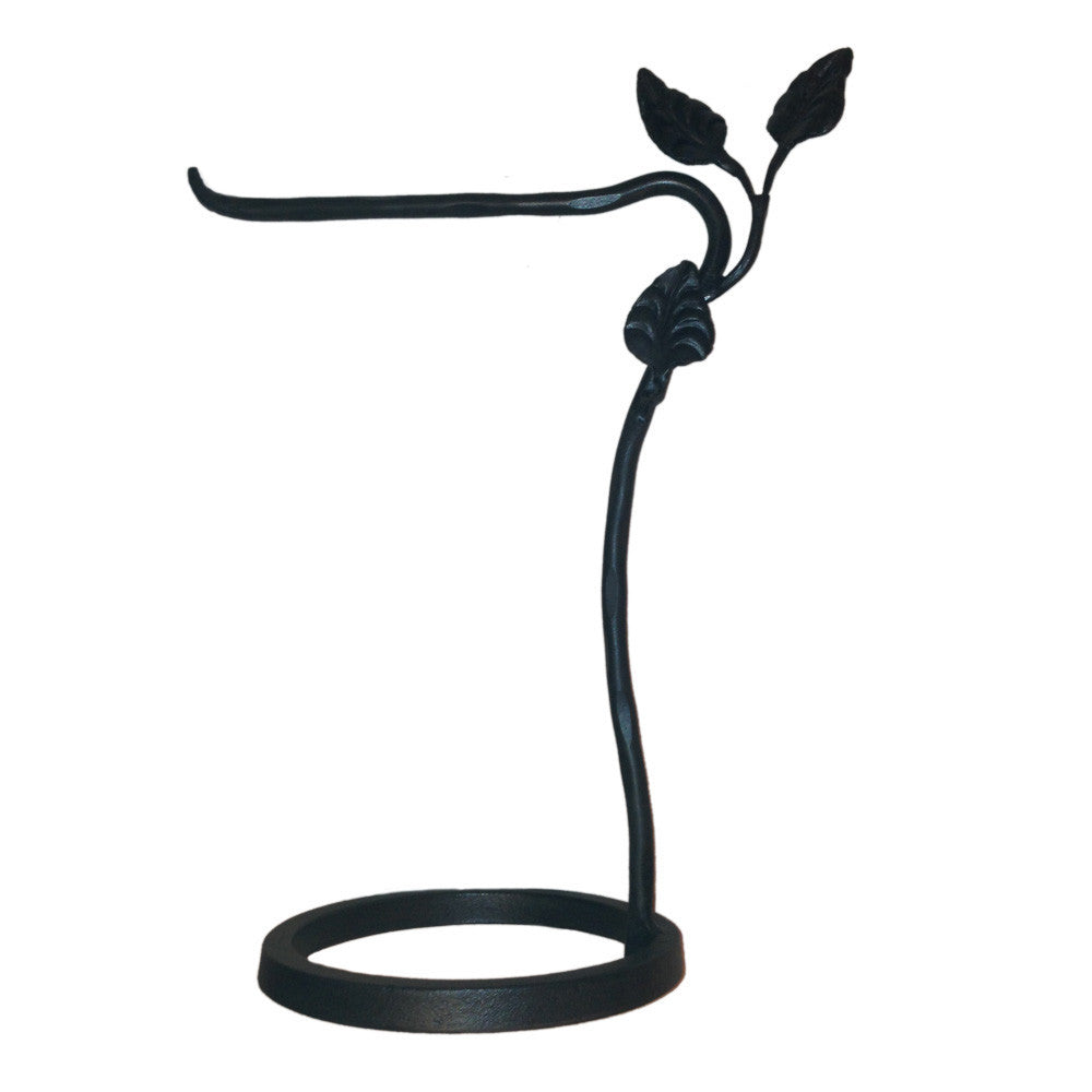 Calico Wrought Iron Leaf Countertop Towel Stand Left