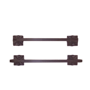 Adobe Wrought Iron Double Towel Bar Set