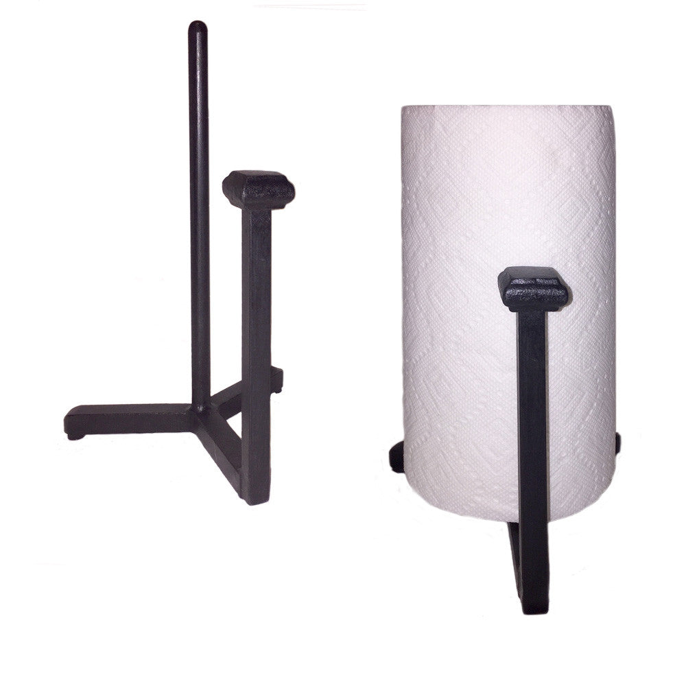 Adobe Wrought Iron Paper Towel Holder Countertop