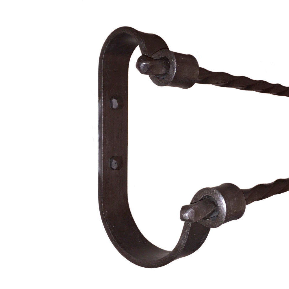 Jerome Twisted Wrought Iron Double Towel Bars