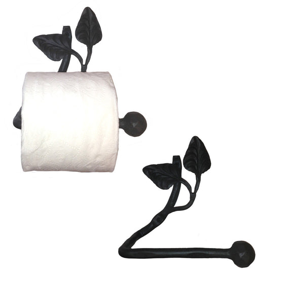 Calico Wrought Iron Leaf Toilet Paper Holder Petite Right