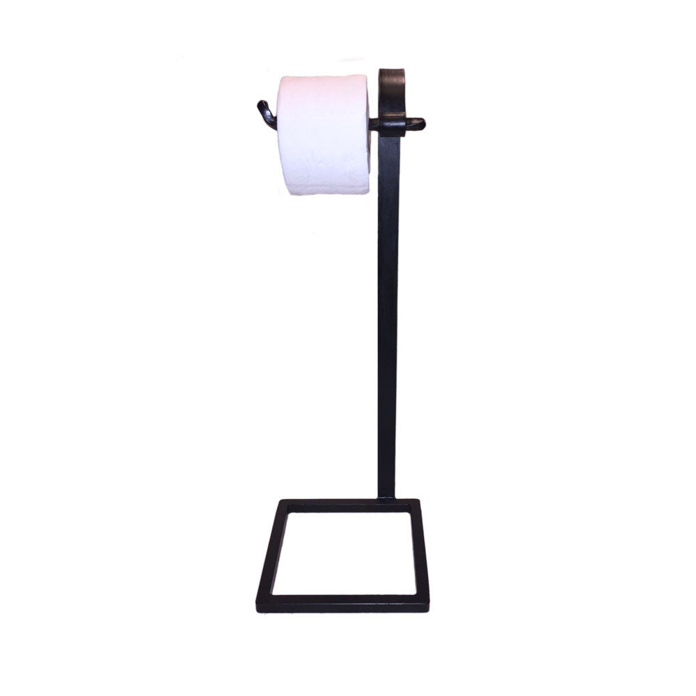 Jerome Twisted Wrought Iron Toilet Paper Holder Floor Standing