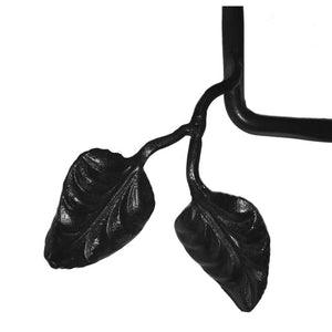 Calico Wrought Iron Leaf Paper Towel Holder Under Cabinet Mount, Right